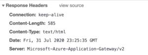 Application Gateway V2 502 error header